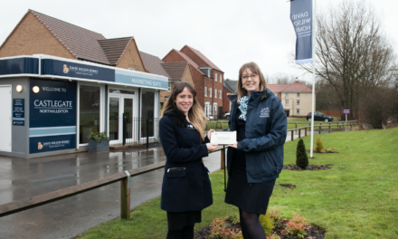 Local housebuilder honours community 'stars' with engraved plaque
