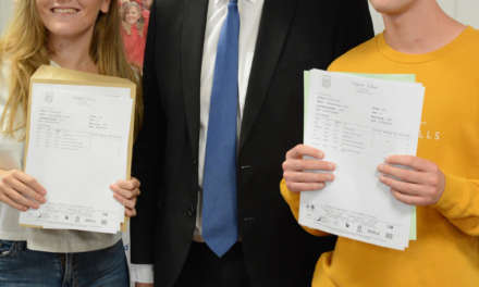 Mayor Returns to Old School to Welcome A Level Results