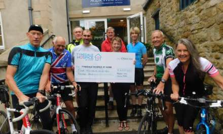 Fitness group's pedal power raises £4k for Hospice
