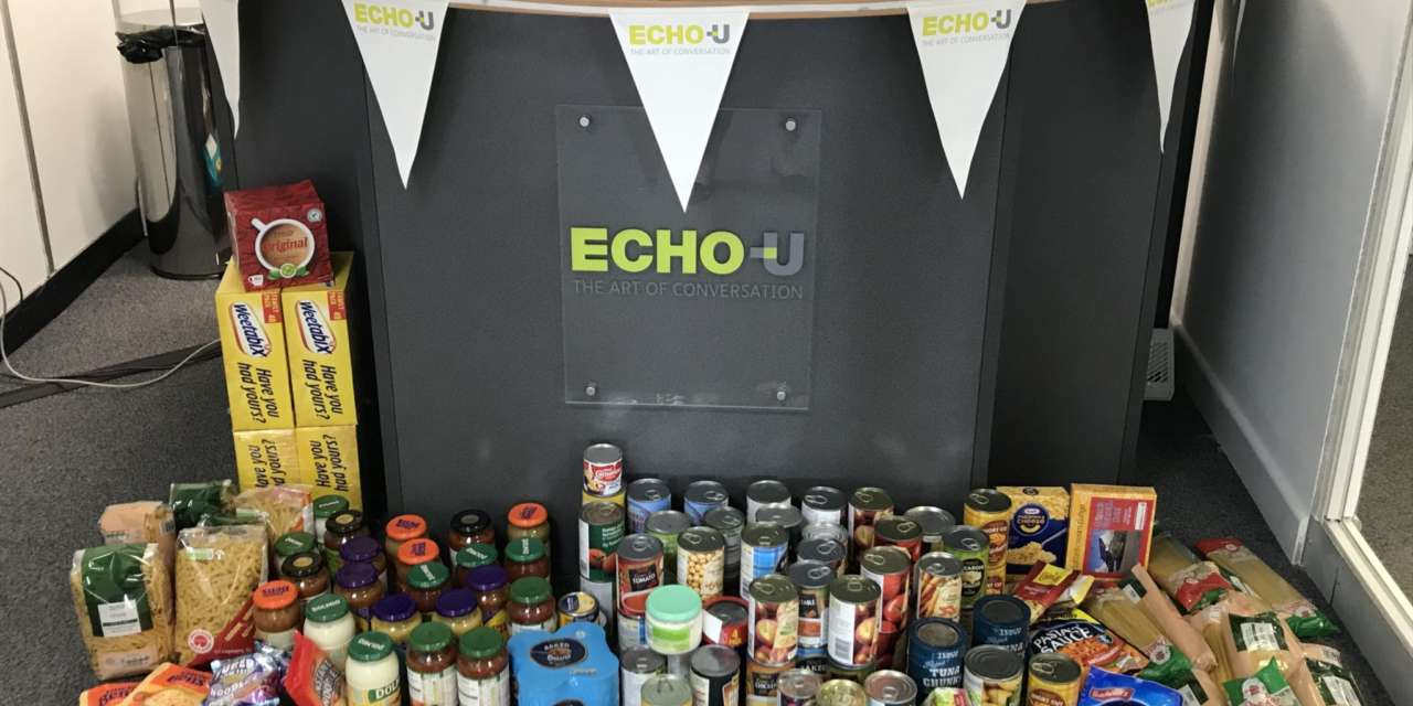 Echo U Team Steps Up To Support Britains Biggest Foodbank