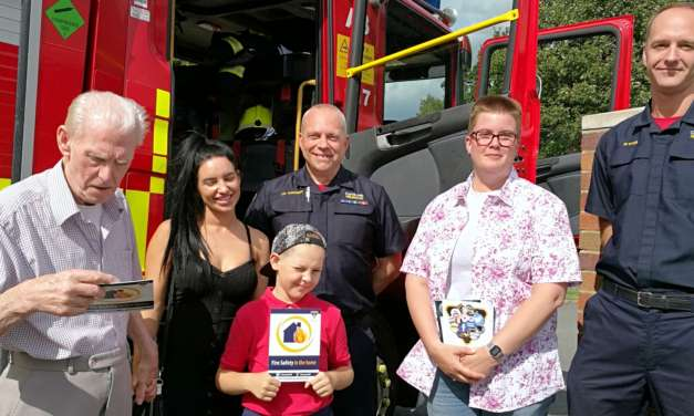 Fire Brigade attend care home summer fayre