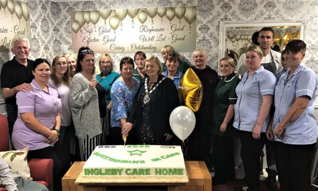 VIPs at Ingleby Care Home's CQC party