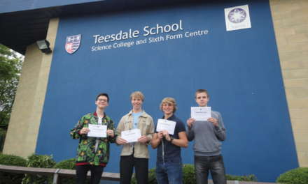 23 August 2018. GCSE success as Teesdale School comes good on promise of excellence