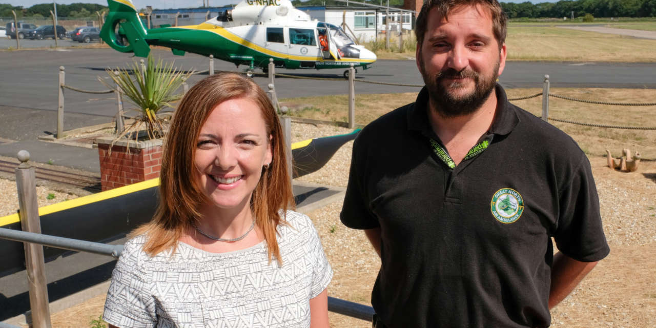 Staff raise a magnificent £14,200 for the Great North Air Ambulance Service