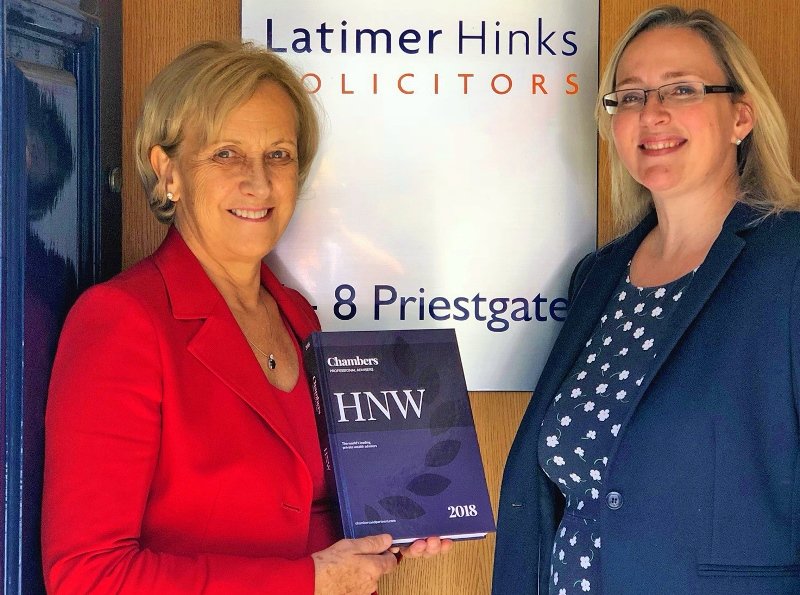 Industry guide ranks Latimer Hinks top for Private Wealth Law