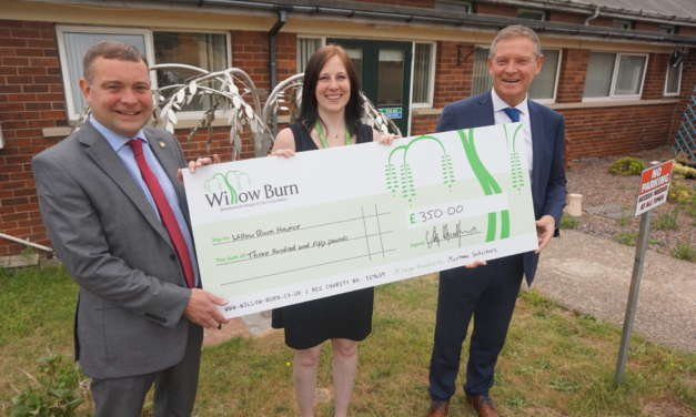 Pallet of Bricks cements relationship with Mortons Law and Willow Burn Hospice