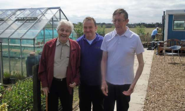 Allotment tour for green fingered care home residents