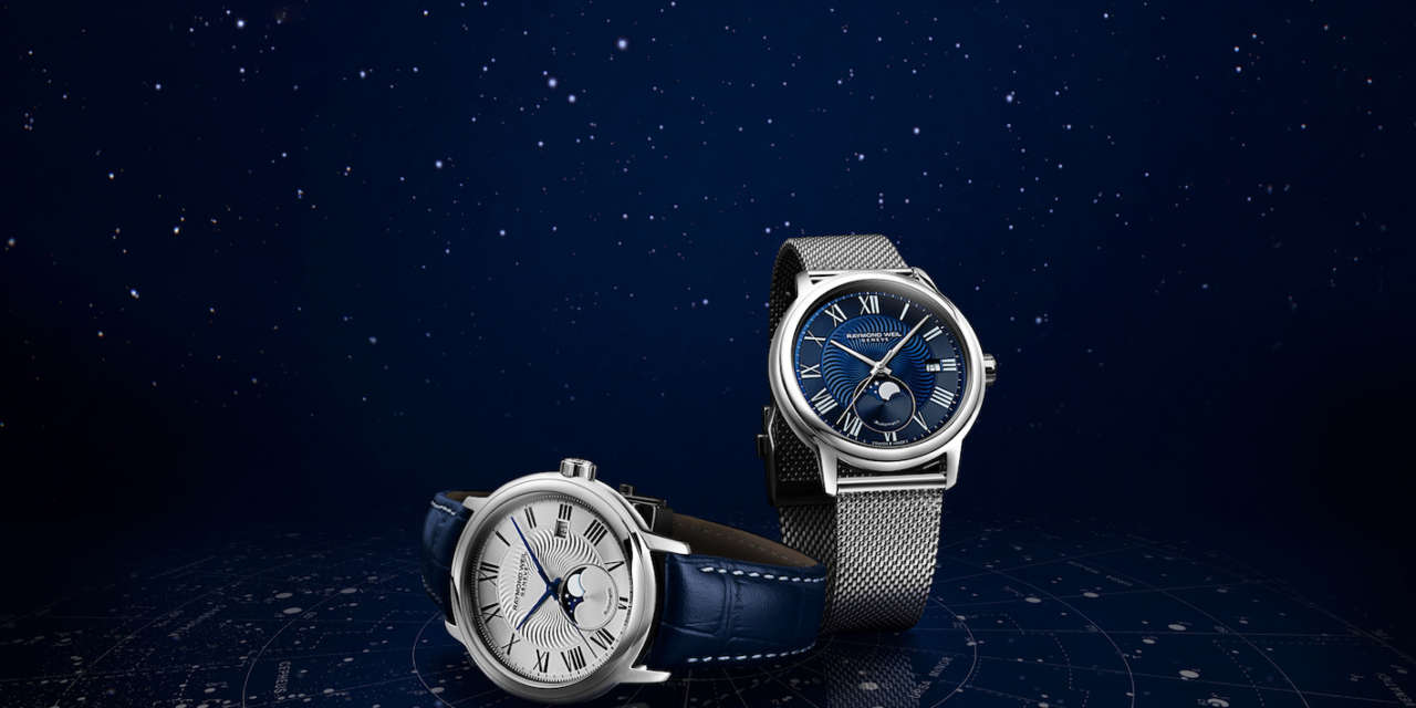 Raymond Weil celebrates the stellar world with the new Maestro Moon Phase Collection