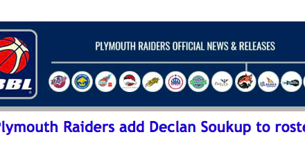 Plymouth Raiders add Declan Soukup to roster