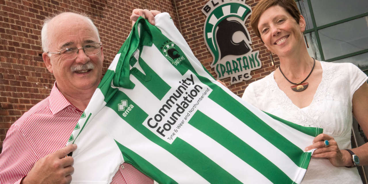 Philanthropist sponsors Blyth Spartans shirt for charity