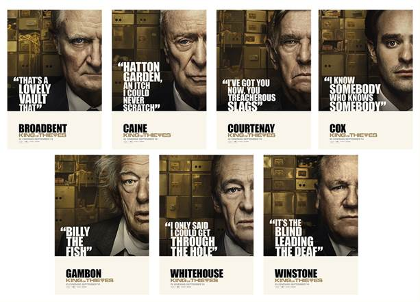 ** KING OF THIEVES – CHARACTER POSTERS **