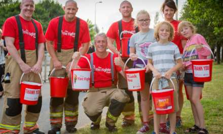 Firefighters get a little help in fundraising campaign