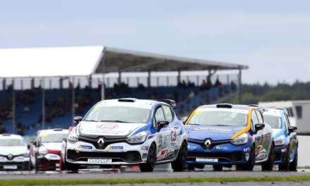 BURNS MAKES HISTORY AT SILVERSTONE BUT IT'LL BE FOUR FOR THE TITLE IN BRANDS HATCH FINALE