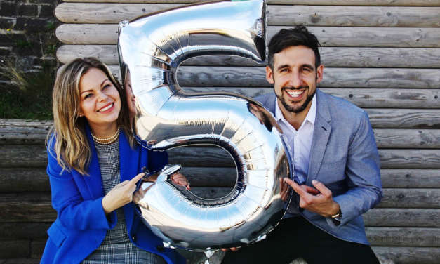 Husband and wife celebrate 5th anniversary of 'accidental' business