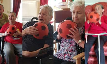 Wellbeing session gets care home residents mobilised