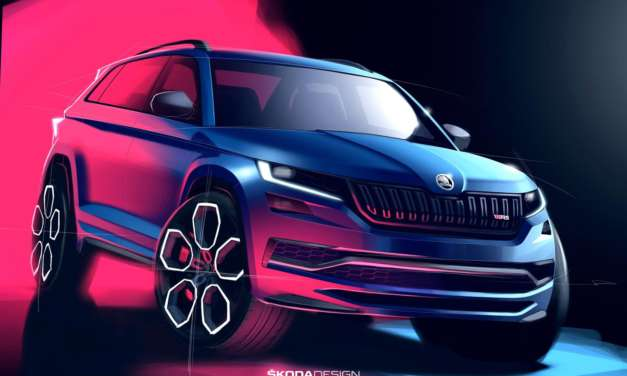 A FIRST LOOK AT THE OVERALL DESIGN OF ŠKODA'S NEW KODIAQ vRS