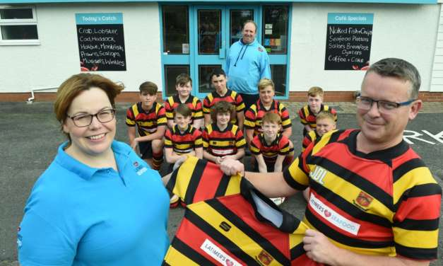 New kit sponsor Latimer's Seafood backs Sunderland Rugby FC U14s for success