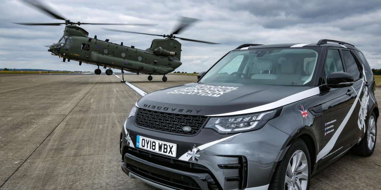 LAND ROVER PARTNERS WITH RAF CHINOOK DISPLAY TEAM