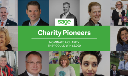 Sage Charity Pioneer Award will recognise local people that have dedicated their lives to a cause or charity