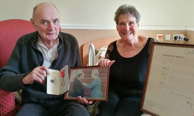 Ray's MBE presentation to mark NHS's 70th anniversary