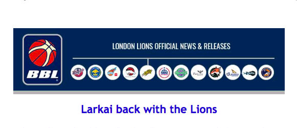 Larkai back with the Lions