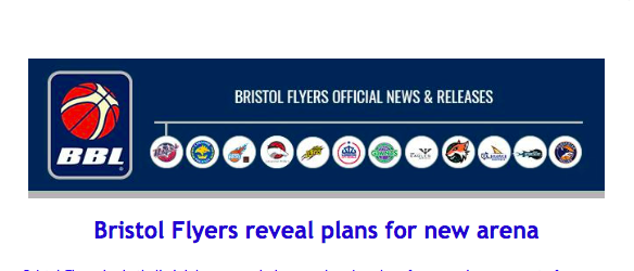 Bristol Flyers reveal plans for new arena