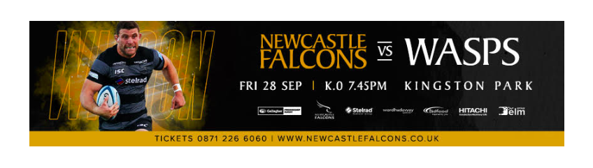 Newcastle Falcons team to face Wasps