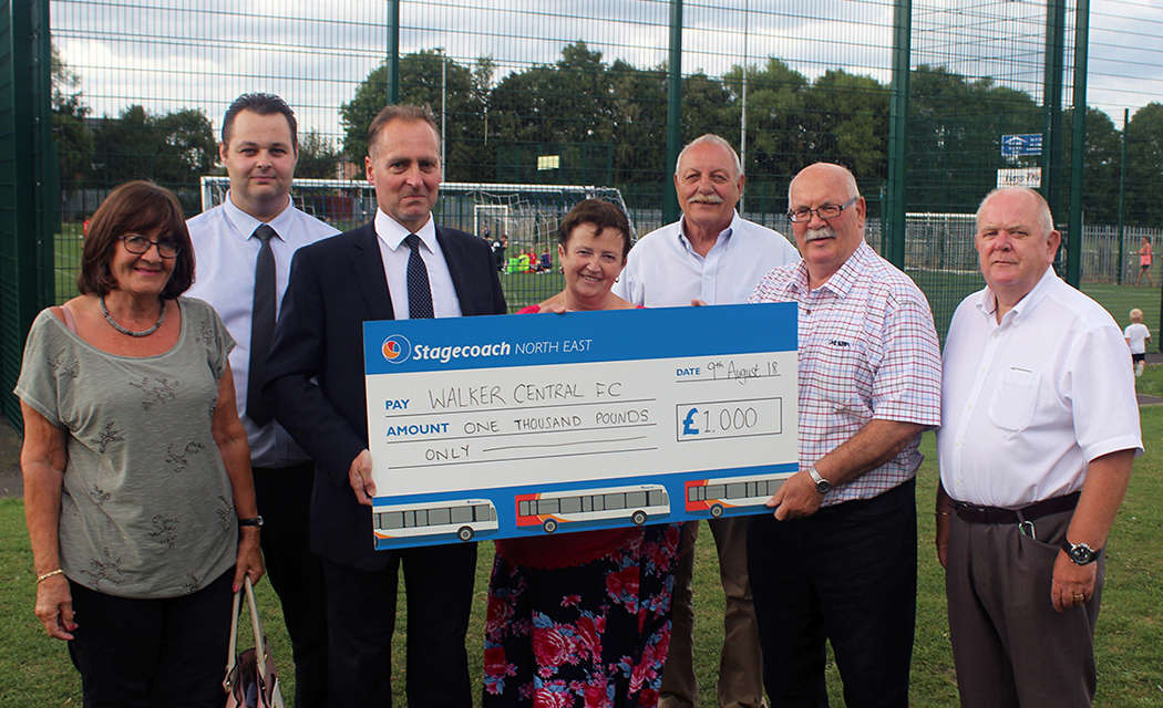 Stagecoach Continues To Back Sport In The Community With Sponsorship Deal For Walker Central