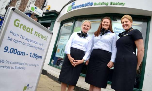 Newcastle Building Society Reintroduces Saturday Opening At Stokesley Branch