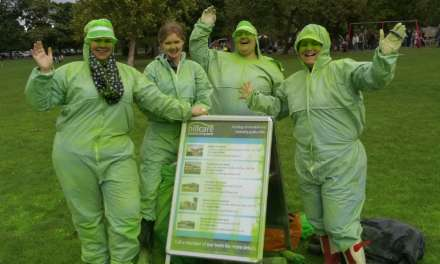 Hill Care fire colour canons for Teesside Hospice Colour Run