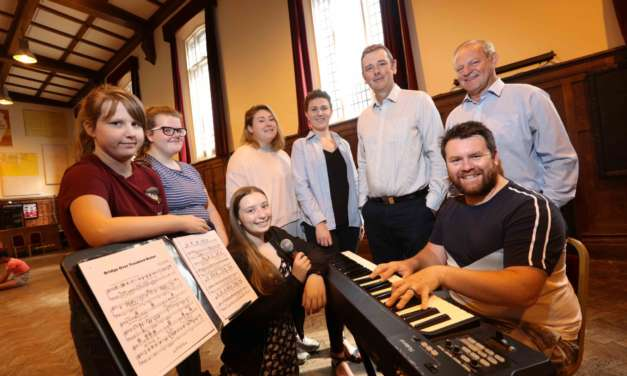 Youngsters dance for joy with UK Steel Enterprise funding