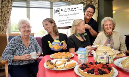 A spot of tea! Barratt Homes hosts afternoon tea celebration at local care home