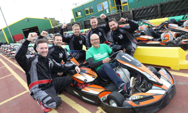 ST JAMES' SQUARE KARTING EVENT RAISES MONEY FOR MACMILLAN