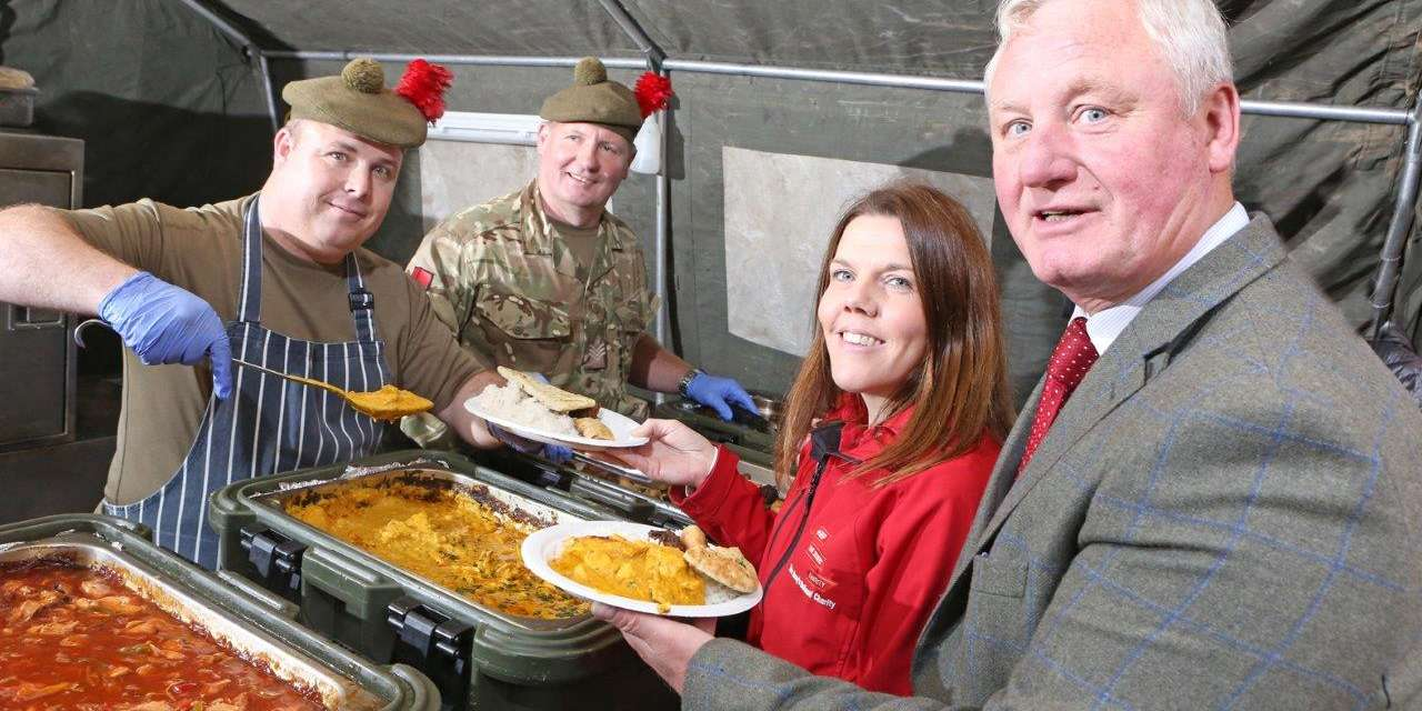 Durham Charity serves Big Curry to raise hundreds of pounds for soldiers