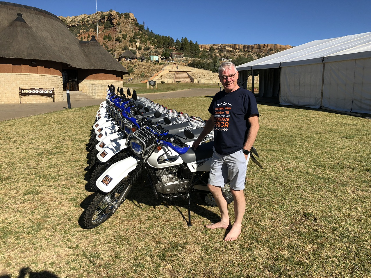 Northumberland company director joins trekking team to deliver new motorcycles to a life-saving programme in Lesotho.