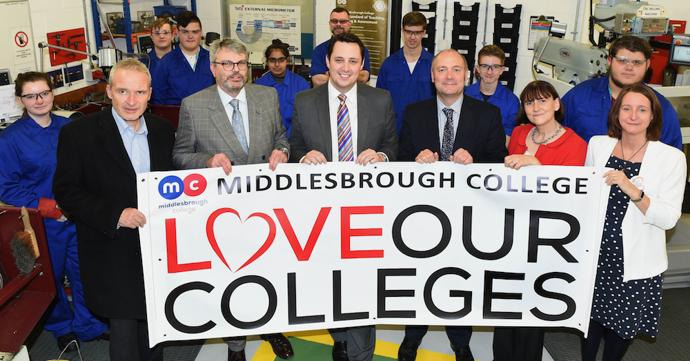 Tees Valley Mayor Ben Houchen says colleges are key to future business success in the area