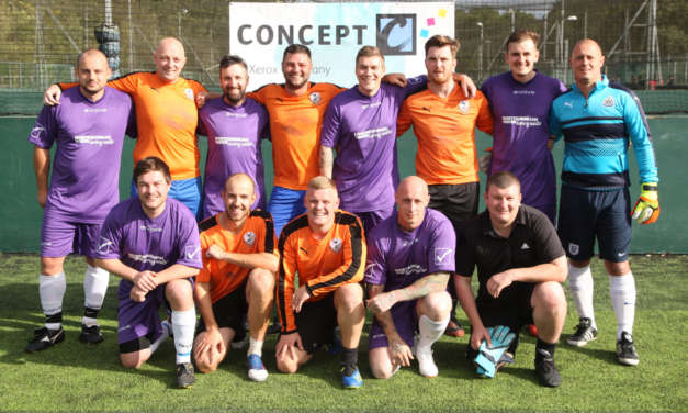 FUND-RAISING FOOTBALLERS SUPPORT NORTH EAST CHARITY