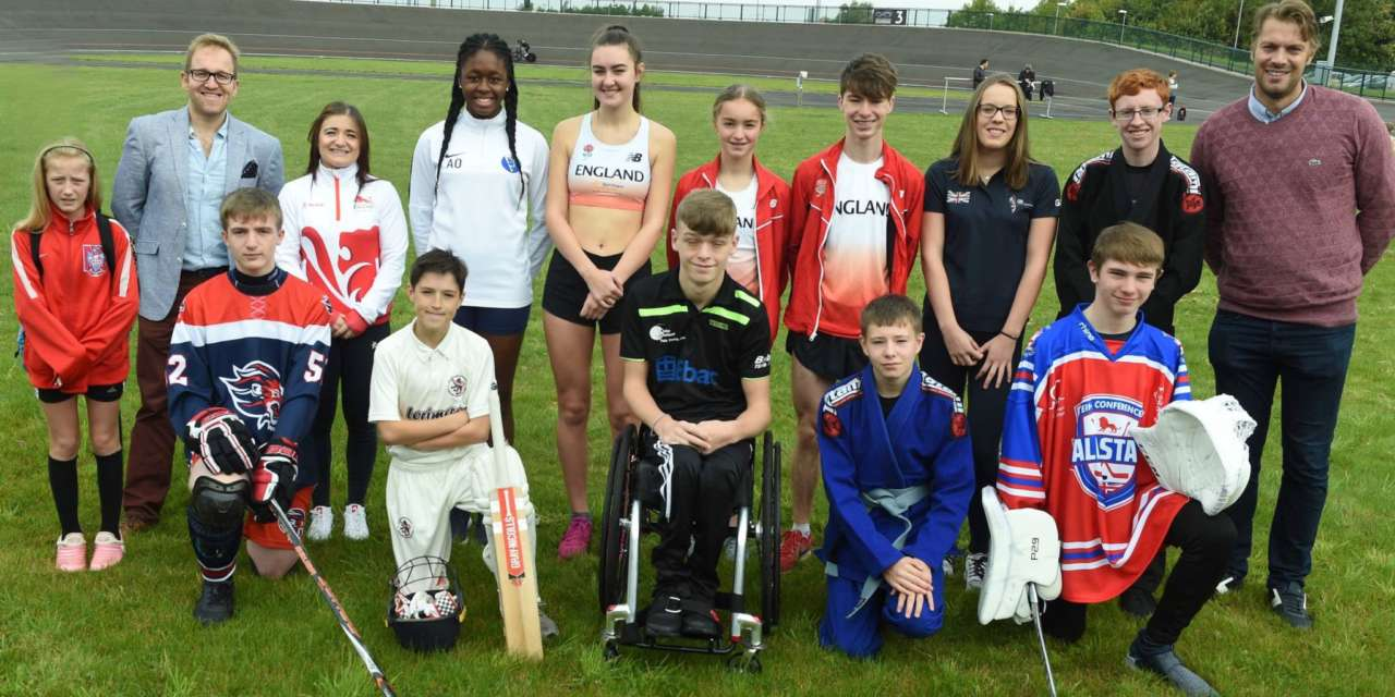 CHARITY HITS FAST FORWARD FOR TEES SPORTS STARS