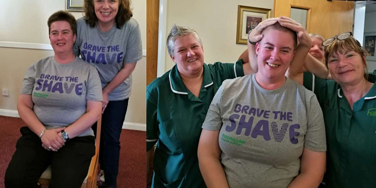 Home manager Kate braves the shave for Macmillan