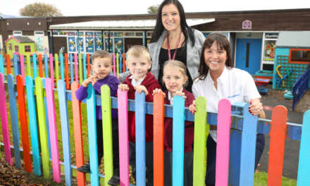 Paint donation transforms outdoor spaces at Northumberland primary school