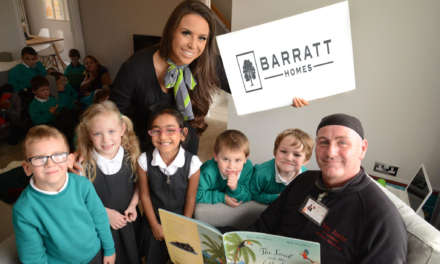 Local housebuilder holds storytelling event for County Durham Primary School pupils