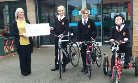 Intrepid young cyclists power through £4,800 for the Butterwick Hospice
