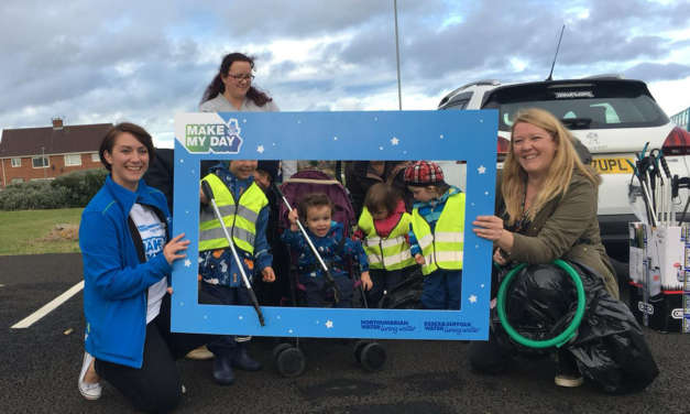 Northumbrian Water volunteers make litter pickers' day