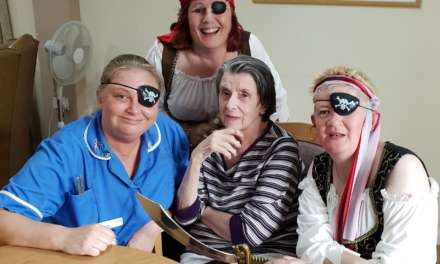 Pirates take over The Oaks Care Home in Blyth