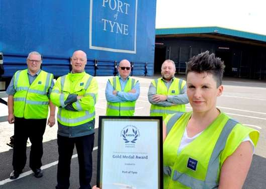 PORT OF TYNE PICK UP A GOLD MEDAL IN PRESTIGIOUS  HEALTH AND SAFETY AWARDS