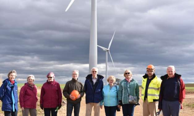 Wear-Tees U3A Members On Site At Moor House Wind Farm