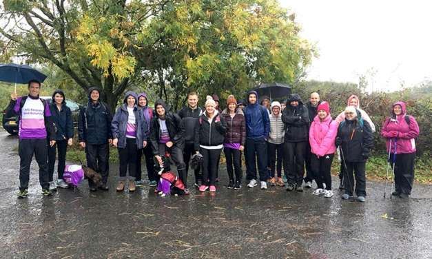 UNW colleagues brave Storm Callum to raise £8,000 for local MS charity