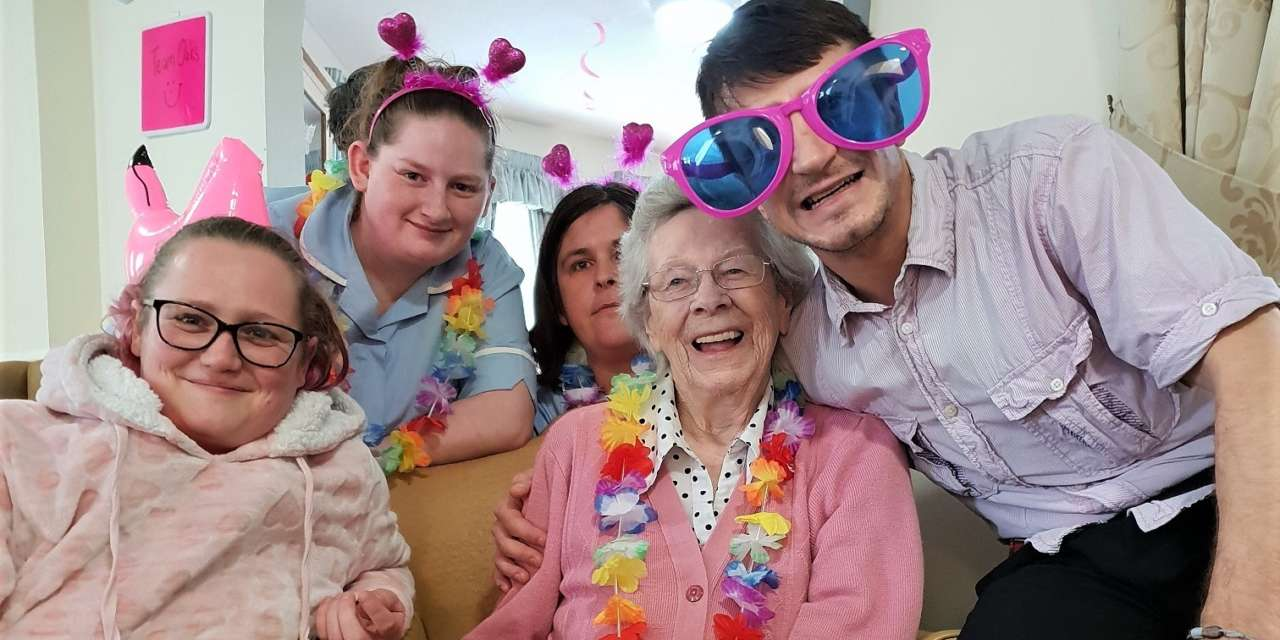 Care home's wear it pink day for breast cancer charity