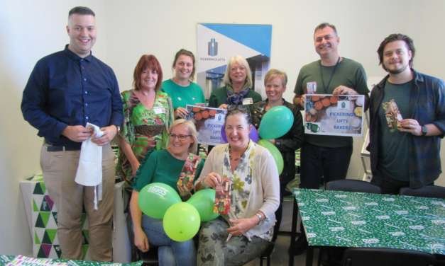 Pickerings Lifts rise to the occasion at Macmillan Coffee Morning