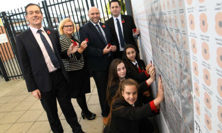 MIDDLESBROUGH SCHOOL PAYS TRIBUTE TO TOWN'S WAR DEAD